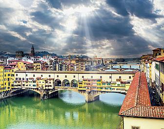 Most Ponte Vecchio ve Florencii
